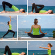 Yoga outdoor collage — Stock Photo