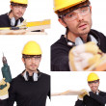 colagem do trabalhador manual — Foto Stock