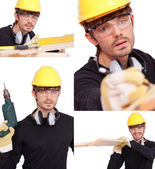 Manual worker collage — Stock Photo