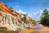 Red river canyon, Vietnam, Mui Ne — Stock fotografie