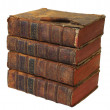 Stack of books of 18-th sentery - Stock Photo