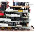 Stack of electronic plate — Stock Photo