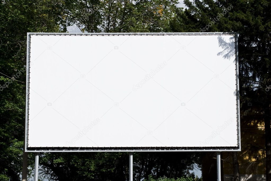 Empty billboard on background wood — Stock Photo #3857702