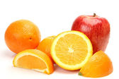 Ripe apple and oranges — Stock Photo