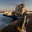 Ship in ice — Stock Photo