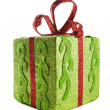 Stock Photo: Square gift box for Christmas