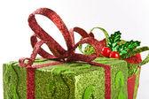 Iki sarılmış hediye kutusu — Stok fotoğraf