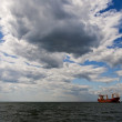 Tanker ship in open sea — Stock Photo