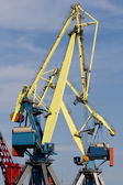 Cranes working at the commercial dock — Stock Photo