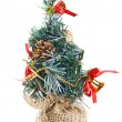 Stock Photo: Isolated decorative fur tree