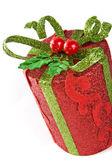Yeni yıl hediye paketi — Stok fotoğraf