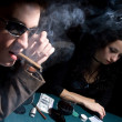 Stock Photo: Two poker players