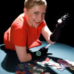 Gambling young woman — Stock Photo #3230485