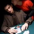 Couple of gamblers — Stock Photo