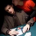 Couple of gamblers — Stock Photo