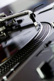 Vinyl record player spinning the disc — Stock Photo