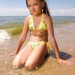 Little girl at the seaside — Stock Photo