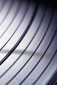 Macro shot of vinyl record — 图库照片