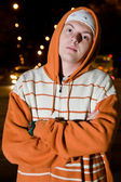 Young drug dealer at night — Stock Photo