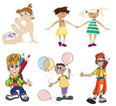 Boy and girls — Stock Vector