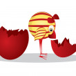 Easter egg and chicken — Imagen vectorial
