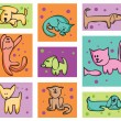 Cats and dogs. — Vector de stock #2864661