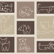 Cats and dogs. - Image vectorielle