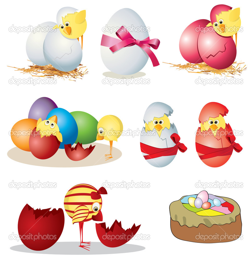 depositphotos 2881517 Easter clip art 2 American Flag as background for Clip Art Illustration for your design.