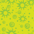 Star seamless background green — Vecteur #2899915