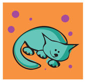 Sleeping cat — Stock Vector