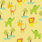 Seamless background jungle — Vecteur