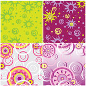4 seamless spin backgrounds — Stock Vector