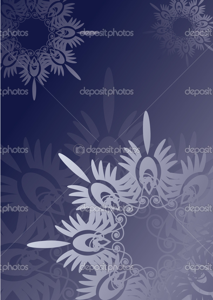 Blue snowflake background  Stock Vector #2910718