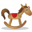 Vettoriale Stock : Rocking horse