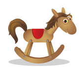Rocking horse — Vettoriale Stock