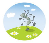Ant dancing — Stock Vector