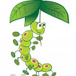 Caterpillar and umbrella - Stockvectorbeeld