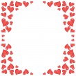 Stock Vector: Frame with hearts