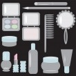 Set with cosmetics — Stock Vector