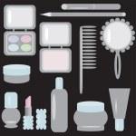 Set with cosmetics — Stock Vector