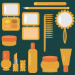 Royalty-Free Stock Vector Image: Set with cosmetics