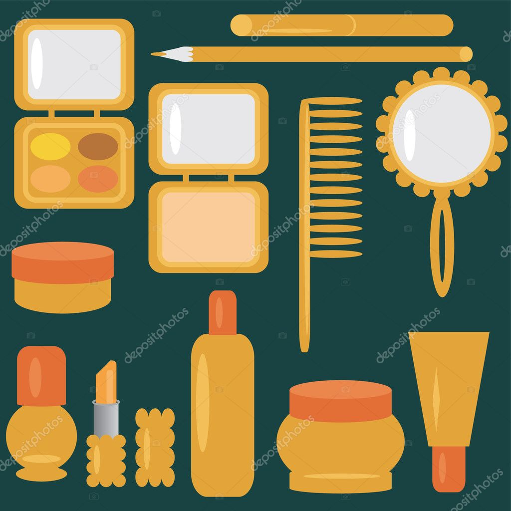 Set with cosmetics and make-up — Stock Vector #2874140