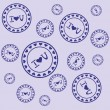 Royalty-Free Stock Imagen vectorial: Stamps with declaration of love