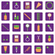 Set of icons with lady's objects — Stock Vector