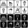 Royalty-Free Stock Vector Image: Icons with desserts and drinks
