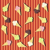 Background with ice creams — Vector de stock