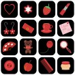 Set of icons with lady's objects - Stock Vector