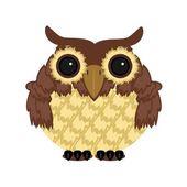 Owl on white background — Stock Vector