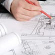 The technical drawing — Stock Photo