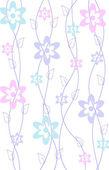 Jarní květinový vzorek pozadí — Stock vektor